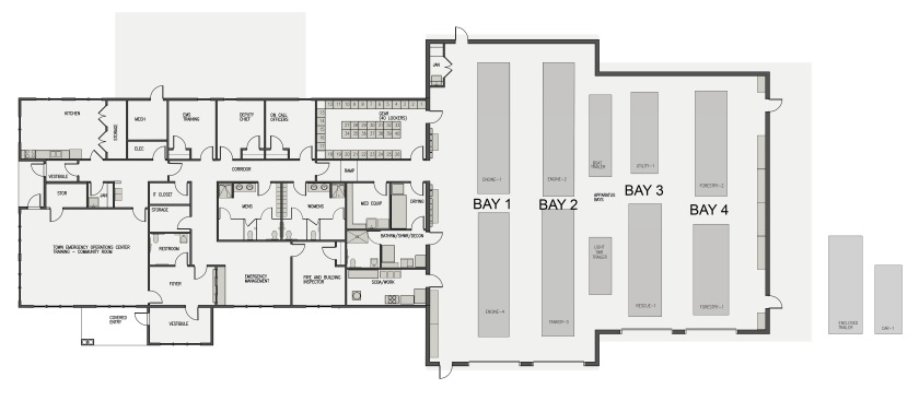 Litchfield Fire Station Floor Plan