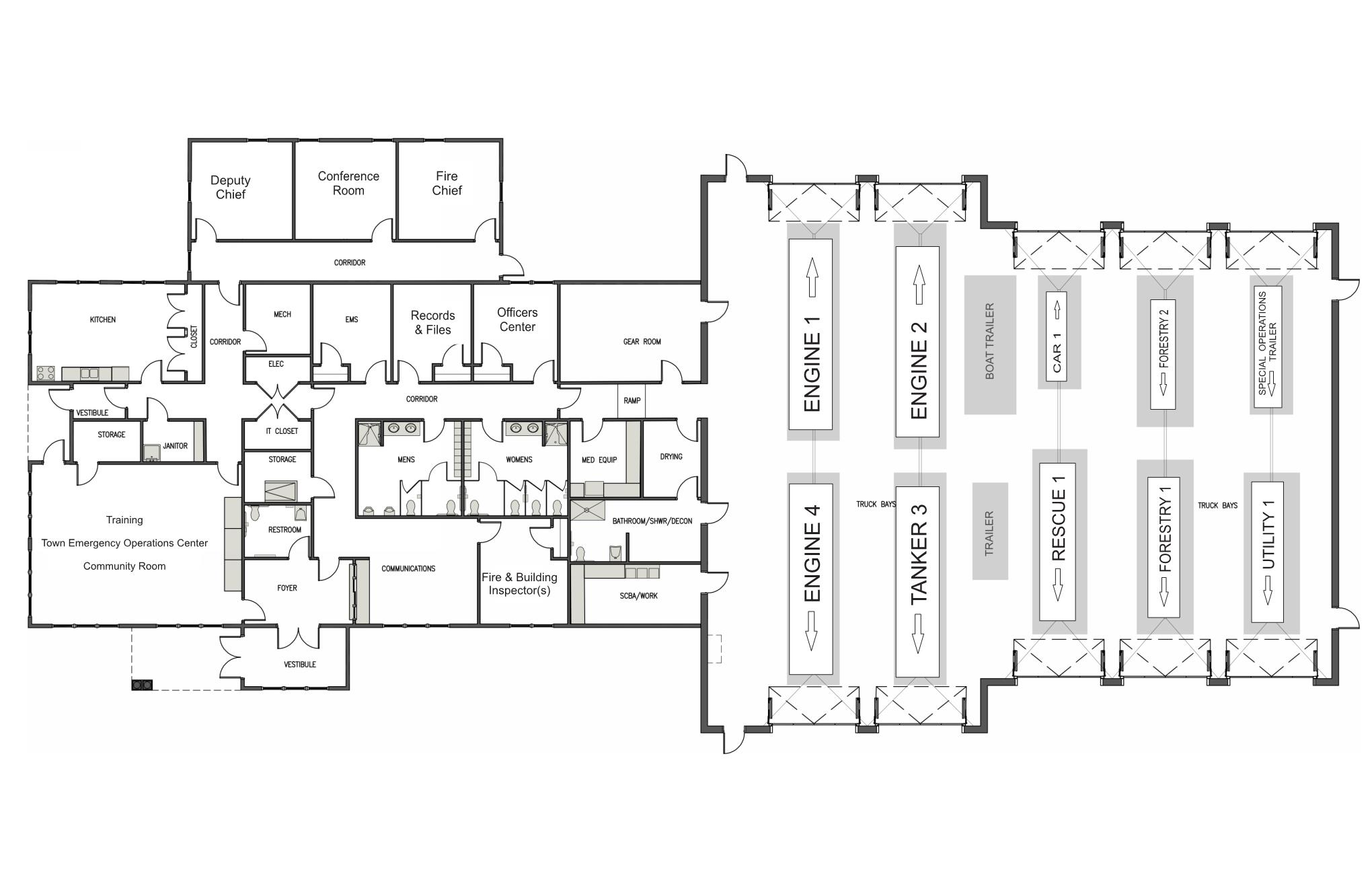 Design Proposed Litchfield Fire Station – Fire Station Floor Plans